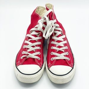Converse Red Chuck Taylor High Top Sneakers